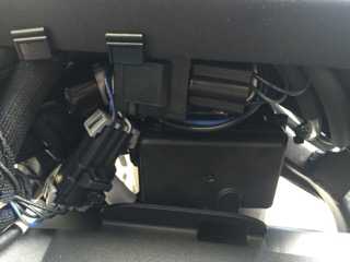 Connectors and relay under front frame
