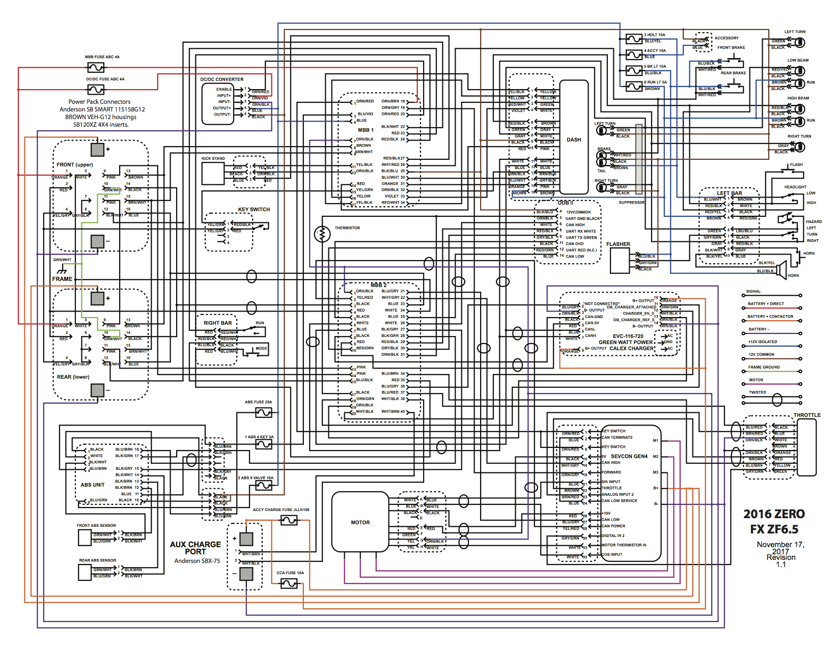 2016 X-platform Wiring Diagram